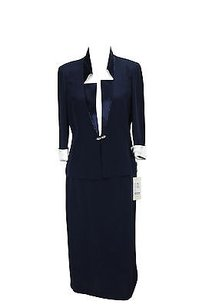 Renato Balestra Womens Skirt Suit Blue Acetate