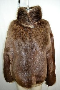 Khaki Reversible Fur Brown Jacket