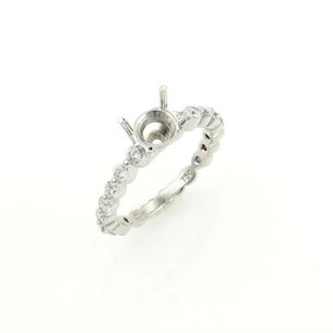 Other Ritani 18k Gold Diamond Solitaire Accent Engagement Ring Mount Only-
