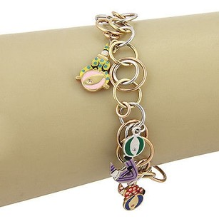 Other Roberta Porrati Baby Caracol 18k Tri Color Gold Clown Charm Bracelet