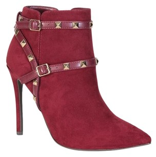 Rockstud Rock Stud Red Boots