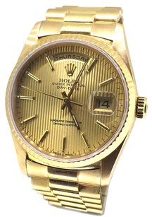 Rolex Rolex Day-Date President 18K Gold Champagne Fluted Watch 18238