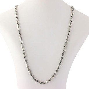 Other Rope Chain Necklace 23 34 - Sterling Silver Lobster Claw Clasp Fine Estate