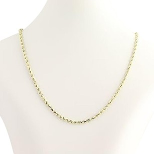 Rope Chain Necklace 34- 10k Yellow Gold Lobster Claw Clasp Womens Gift