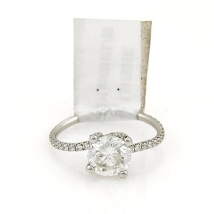 Round Brilliant Cut 1.54ct Diamond Solitaire Platinum Ring Wegl Cert Fsi2