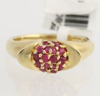 Ruby Cocktail Ring - 10k Yellow Gold Womens July Genuine .50ctw