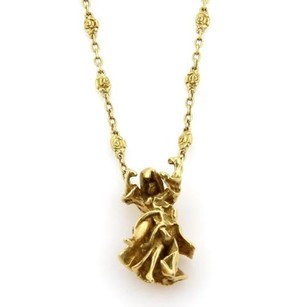 Salvator Dali 18k Yellow Gold Dancer Pendant Necklace Wbracelet Enhancer
