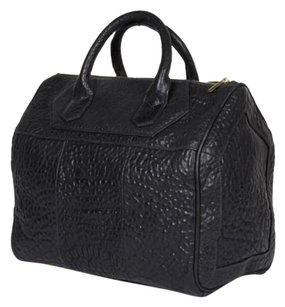 Rt Warner Bubbled Leather Satchel in Black
