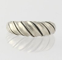 Scalloped Ring - Sterling Silver 6.25 Band Womens Fashion Estate 925
