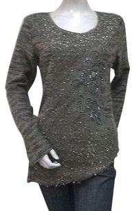 Other Vandana Tweed Scoop Neck Sequin Dr1003003 Applique Sweater