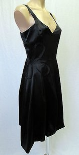 short dress Black Francisco Rosas Satin on Tradesy