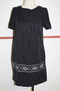 Other short dress Blacks Good Luck Lined Short Sleeve Shift With Embroidery 8064 on Tradesy