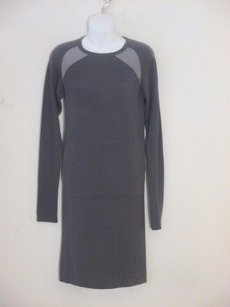 Other short dress grey Yarnz The Breed Silk Cashmere Ls Color Block on Tradesy