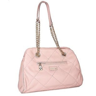 Other Miadora Kimberly Blush Silver Quilted Chain Wallet Shoulder Bag