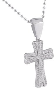 Other Simulated Diamonds Cross Pendant Jesus Charm Stainless Steel Chain Charm Classy