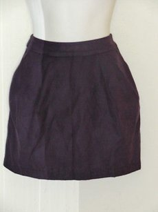 Other Hutch Silk Pocket Pleated Mini Skirt Purples