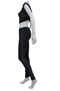 Other Juicy Couture Python Print Panel Sides Skinny Navy Skinny Jeans
