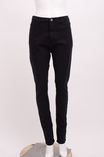 Bassike Black Stretch Cotton Skinny Jeans