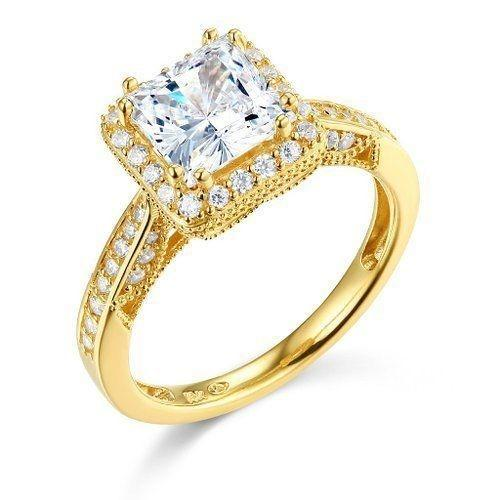 Yellow Or White Gold To Choose 14k Solid Engagement Ring ...
