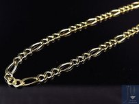 Solid 14k Yellow Gold 2.5mm Figaro Chain Necklace Lobster Clasp 16-24 Inches