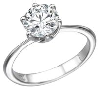 Other Solitaire Wedding Engagement Ring 14k White Gold Womens Round Cut 1.0 Carat