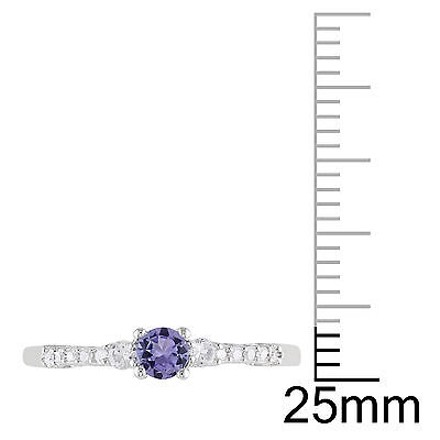 Other 0.3 Ct Tw Diamond Tanzanite And White Sapphire Ring In Sterling Silver Gh I2i3