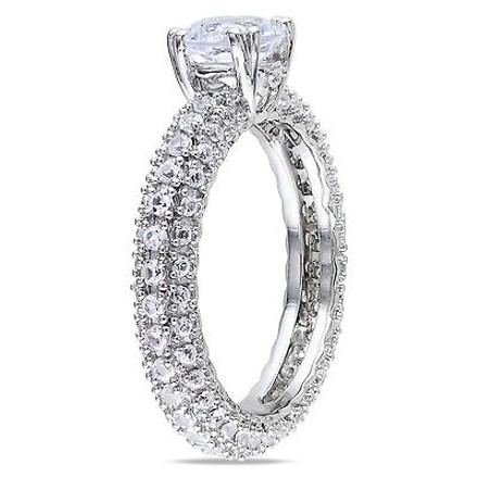Other Sterling Silver 2 34 Ct Tgw White Sapphire Engagement Ring