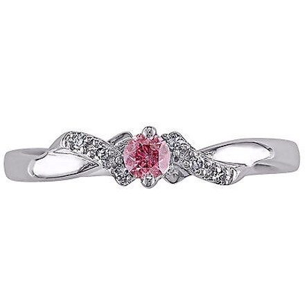 Other Sterling Silver 110 Ct Tw Pink And White Diamond Engagement Ring Gh I1i2 925