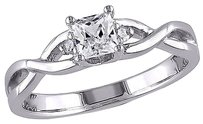 Sterling Silver Diamond 38 Ct White Sapphire Crossover Ring Gh I3