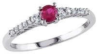 0.33 Ct Tw Diamond Ruby And White Sapphire Ring In Sterling Silver Gh I2i3
