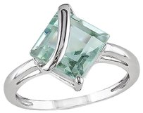 Other 10k White Gold 2 14 Ct Tgw Green Amethyst Fashion Ring