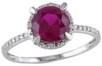 10k White Gold Diamond And 1 58 Ct Tgw Ruby Fashion Ring Gh I2i3