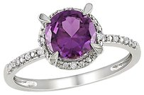 Other 10k White Gold Diamond And 1 58 Ct Tgw Alexandrite Fashion Ring Gh I2i3