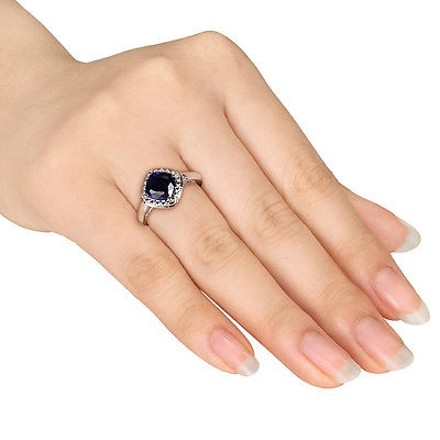 Other Sterling Silver 2 Ct Tgw Blue Sapphire Fashion Ring