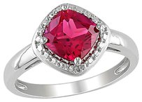 Other Sterling Silver 2 Ct Tgw Ruby Fashion Ring