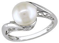 Other 10k White Gold 8 - 8.5 Mm White Freshwater Pearl Fashion Ring