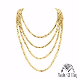 Sterling Silver Byzantine Chain Mens Womens Mm 14k Yellow Gold Finish 20-30 In