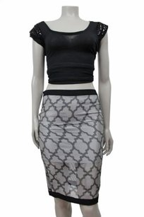 Three Of Something Skirt Gray black