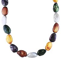 Sterling Silver 17-18 Mm Mixed Freshwater Pearl Irregular Shaped Necklace 18