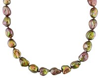 Other Sterling Silver Freshwater Brown Pearl Strand Necklace 8.5-9.0mm 17