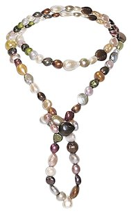 Other Amour 36 Freshwater Multi-color Pearl Endless Necklace Strand 8-13 Mm