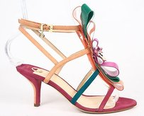 Other Ojour Suede Grosgrain Bow Strappy Sandal Heels Fuchsia Pumps