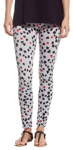 Stretchy Comfy breathable HEARTS RED BLACK Leggings