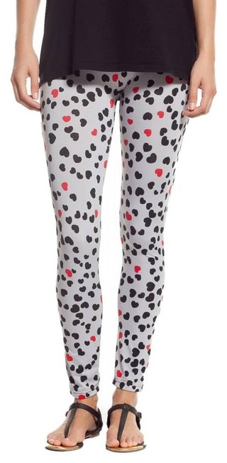 Other Stretchy Comfy breathable HEARTS RED BLACK Leggings