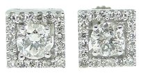 Other 12 Ct Round Cut Solitaire Diamond Studs Earrings .55 C