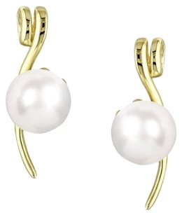 Other 10k Yellow Gold 5.5-6mm Pearl Stud Earrings