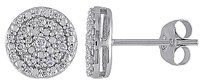 Other 10k White Gold 14 Ct Diamond Stud Butterfly Earrings Gh I2i3