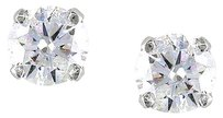 14k White Gold Diamond Solitaire Stud Earrings 0.5 Cttw G-h Vs2-si1