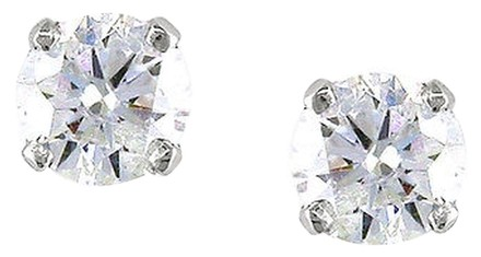 Other 14k White Gold Diamond Solitaire Stud Earrings 0.5 Cttw G-h Vs2-si1