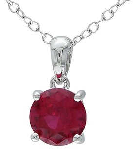 Other Amour Sterling Silver 2 14 Ct Tgw Ruby Solitaire Pendant Necklace 18